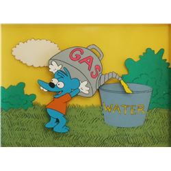 """""""The Simpsons"""" Original Cel & Matching Background."""