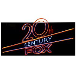 """""""20th Century Fox"""" Large Neon Sign by Lili Lakich."""