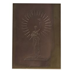 Columbia Pictures Logo Embossing Plate.