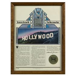 Framed Section of the Original Hollywood Sign.