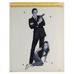 "Burt Reynolds ""James Bond"" Character Concept Painting."