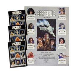"Set of (3) ""Spaceballs"" Sticker Sheets & Poster."