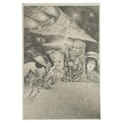 """""""Spaceballs"""" Original Poster Artwork."""