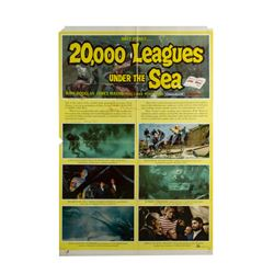 """""""20,000 Leagues"""" Multi-Signed Re-Release Poster."""