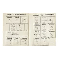 """Pair of """"20,000 Leagues"""" Diver Safety Signal Sheets."""