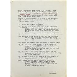 """20,000 Leagues Under the Sea"" Original Script Notes."
