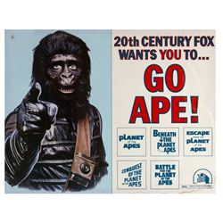 "Go Ape! ""Planet of the  Apes"" Half Sheet Poster."