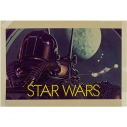 """Star Wars"" Concept Print with Painted Text Overlay."