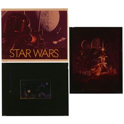"Set of (3) ""Star Wars"" Film Transparencies."