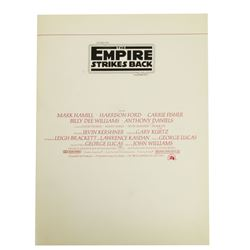 """The Empire Strikes Back"" Film Program."