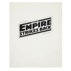 """The Empire Strikes Back"" Program & Poster."