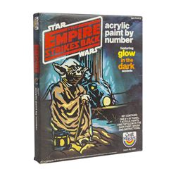 """""""The Empire Strikes Back"""" Yoda Paint by Number."""