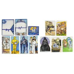 "Large Collection of ""Star Wars"" Greeting Cards."