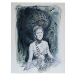 Slave Leia & Jabba the Hutt Artwork by Roger Kastel.