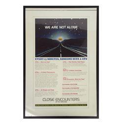 """Close Encounters"" UFO Facts Promo Poster Art."