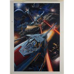 """Intercosmic Combat"" Original Art by Dan Goozee."