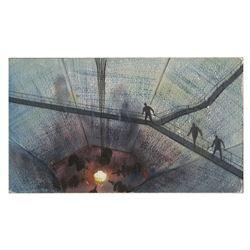 "Peter Ellenshaw ""The Black Hole"" Concept Painting."