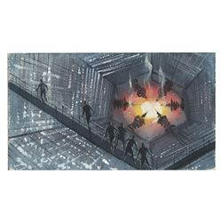 "Peter Ellenshaw ""The Black Hole"" Concept Art."