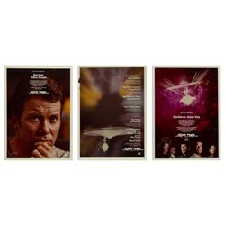 "Set of (3) ""Star Trek"" Academy Awards Designs."