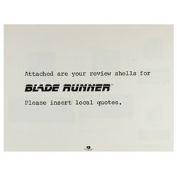 """Blade Runner"" Advertising Campaign Book."