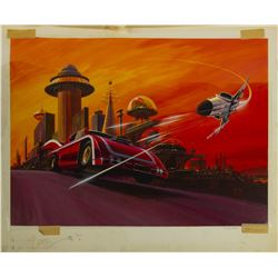 """""""The Last Chase"""" Original Poster Painting."""