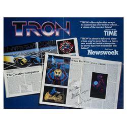 """Tron"" Half Sheet Poster Signed by Lisberger & Kushner."
