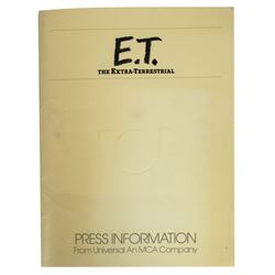 """E.T. the Extra-Terrestrial"" Press Info Packet."