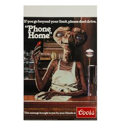 """E.T."" Coors Beer ""Phone Home"" Table Card."