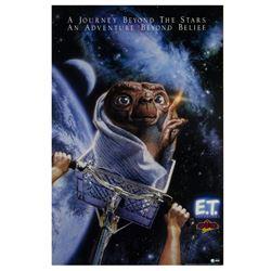 """""""E.T. Adventure"""" Drew Struzan Signed Poster."""