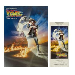 """Back to the Future"" Preview Invitation & Program."