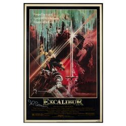 """Excalibur"" One Sheet Poster Signed by John Boorman."