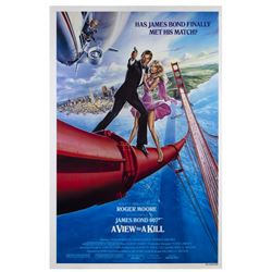 "James Bond ""A View to a Kill"" One Sheet Poster."