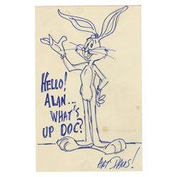 Original Bugs Bunny Drawing Signed by Art Davis.