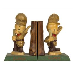 Pair of Cast Metal Elmer Fudd Bookends by Moss.