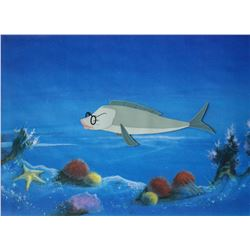 """""""The Incredible Mr. Limpet"""" Original Animation Cel."""