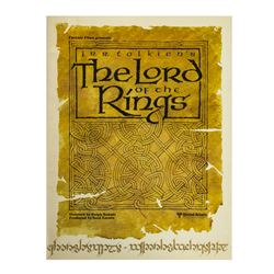 """The Lord of the Rings"" Publicity Packet."