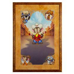 """Fievel Goes West"" Original Poster Artwork."