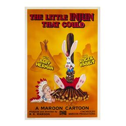"""Little Injun That Could"" Roger Rabbit Signed Poster."