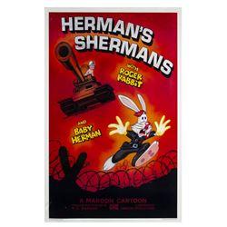 """""""Herman's Shermans"""" Roger Rabbit Signed Poster."""