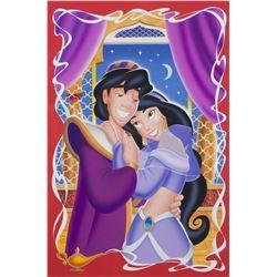 Aladdin and Princess Jasmine Original Painting.