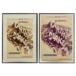"Pair of ""Earthquake"" Film Poster Concepts."