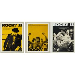 "Set of (3) Rocky II ""For Your Consideration"" Concepts."