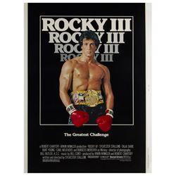 """Rocky III"" 40x30 Original Poster."