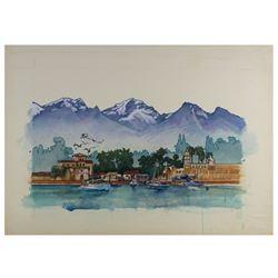 """Original Drew Struzan """"Caboblanco"""" Painting."""