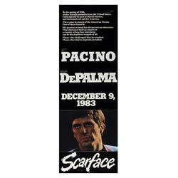 """Scarface"" Double-Sided Teaser Poster."