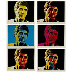 "Set of (6) ""Scarface"" Silkscreened Color Tests."