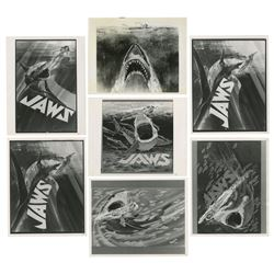 "Set of (7) Alternative ""Jaws"" Poster Concepts."