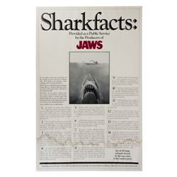 """Jaws"" Sharkfacts One Sheet Poster."