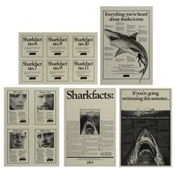 "Set of (5) ""Jaws"" Sharkfacts Poster Samples."