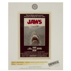 """Jaws"" Poster Project Sample."